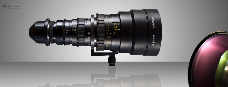 angenieux 25-250 hr t3.5 zoom lens